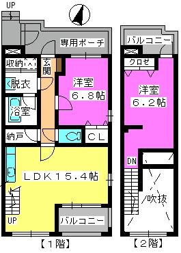 ビ・ザ・ビ・ランドⅡ(ペット共生) / S-103号室間取り