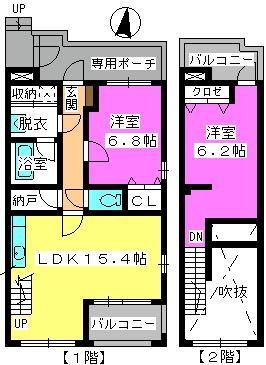ビ・ザ・ビ・ランドⅡ(ペット共生) / W-103号室間取り