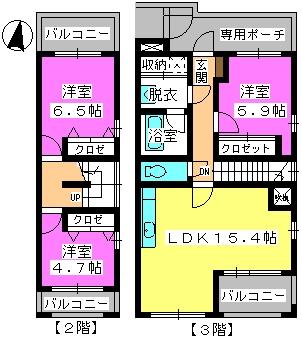 ビ・ザ・ビ・ランドⅡ(ペット共生) / W-301号室間取り