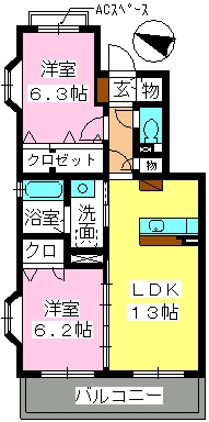 スーベニール / B-303号室間取り
