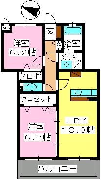 スーベニール / A-302号室間取り