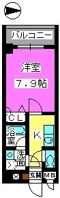 サン・アネックス / 402号室間取り