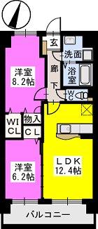 アグリガーデン福間駅前 / 703号室間取り