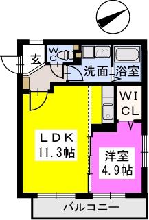 デルニエ / 201号室間取り