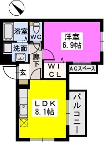 エスカーレ千早(ペット共生) / 201号室間取り