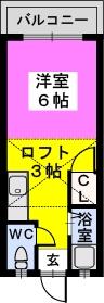 エトワール綾 / 208号室間取り