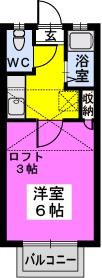 綾の家 / N-108号室間取り