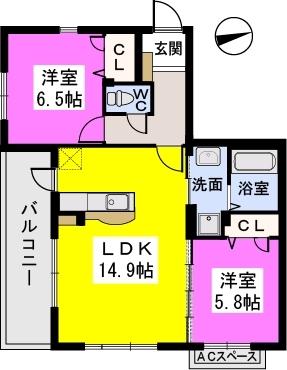 ラ・フォート / 201号室間取り