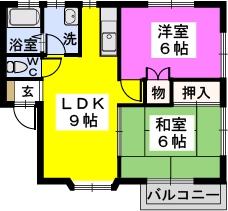 梓 / 101号室間取り