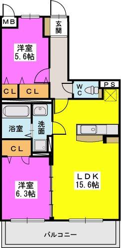 ルナ・メゾン / 302号室間取り