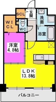 オータムレーベンⅡ(ペット共生) / 203号室間取り