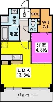 オータムレーベンⅡ(ペット共生) / 505号室間取り