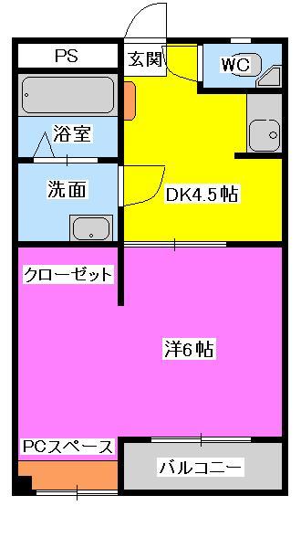 安隆ハイツ / 301号室間取り
