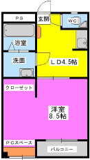 安隆ハイツ / 304号室間取り