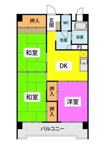 第一大神ビル / 603号室間取り