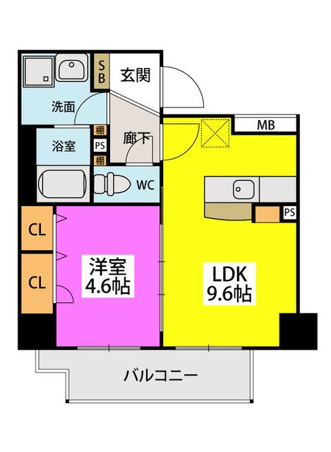 ノアール香椎 / 201号室間取り