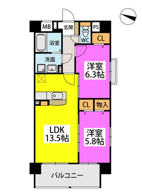 黒木ビル / 401号室間取り