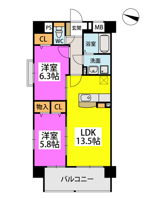 仮)香椎黒木ビルⅠ / 402号室間取り