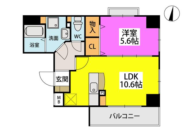 仮)香椎黒木ビルⅠ / 703号室間取り