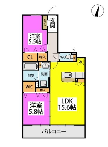 仮)日蒔野4丁目計画 / 1107号室間取り