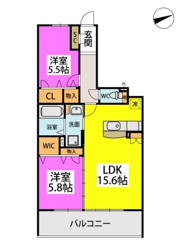 仮)日蒔野4丁目計画 / 2103号室間取り