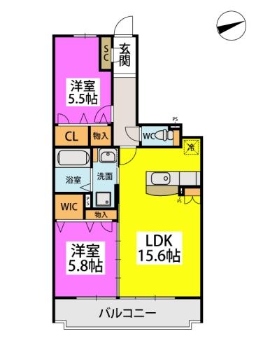 仮)日蒔野4丁目計画 / 2203号室間取り