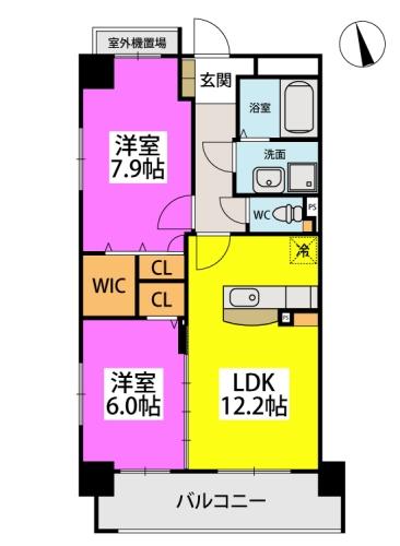 仮)下原4丁目マンション / 703号室間取り