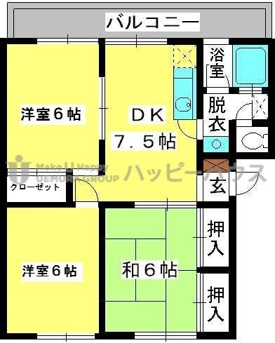 稲永ビル / 103号室間取り
