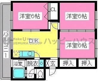 稲永ビル / 107号室間取り