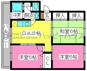 稲永ビル / 201号室間取り