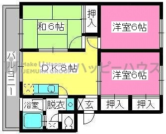 稲永ビル / 202号室間取り