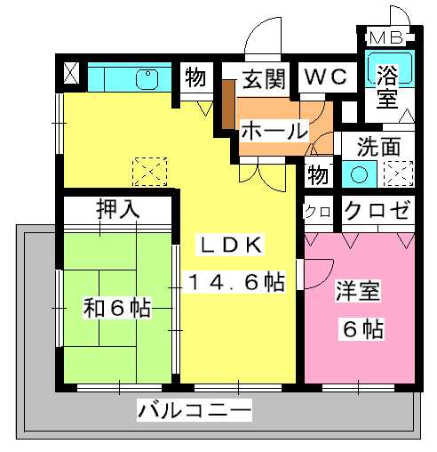 ピア白水ヶ丘 / 305号室間取り