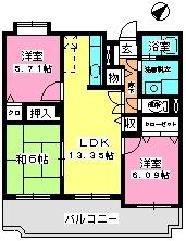 グランシャリオ21 / 202号室間取り