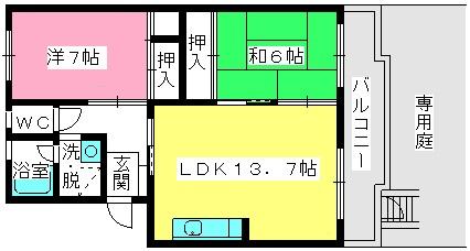 坂井ビル / 106号室間取り