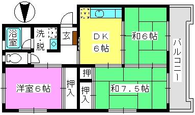 ハイム渡辺 / 207号室間取り