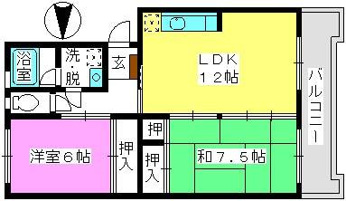ハイム渡辺 / 305号室間取り