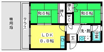 エステートYM / 103号室間取り