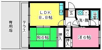 エステートYM / 105号室間取り