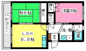 エステートYM / 203号室間取り