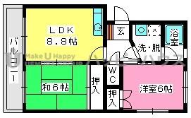 エステートYM / 205号室間取り