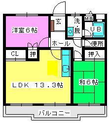 メゾン・ド・Fuji2 / 202号室間取り