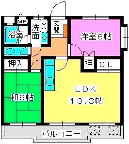 メゾン・ド・Fuji2 / 403号室間取り