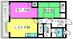 アメニティ12 / 203号室間取り