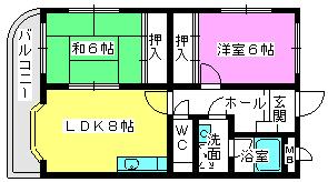 アメニティ12 / 302号室間取り