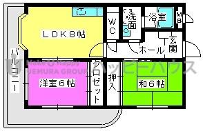 アメニティ12 / 305号室間取り