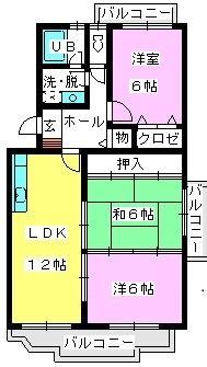 レジデンス渡邊Ⅱ / 201号室間取り
