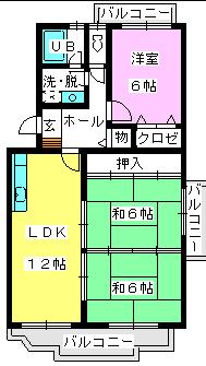 レジデンス渡邊Ⅱ / 401号室間取り
