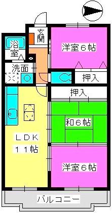 リバーサイド山本 / 103号室間取り