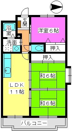 リバーサイド山本 / 301号室間取り