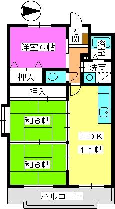 リバーサイド山本 / 305号室間取り